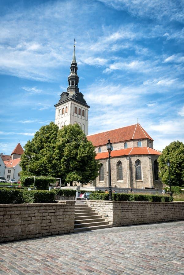 St Nicholas Church em Estônia, Tallinn fotos de stock royalty free