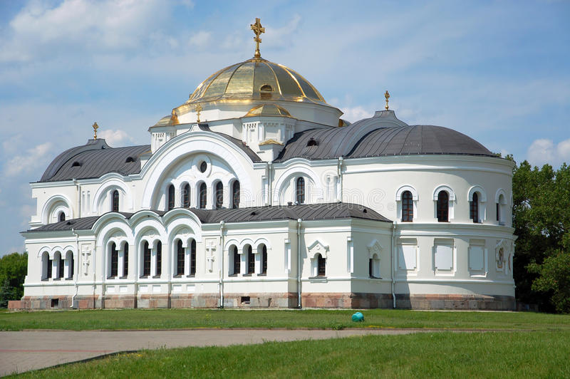St. Nicholas Church i den Brest fästningen royaltyfria bilder