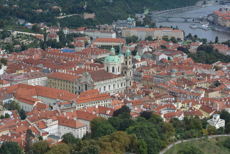 St Nicholas Church, Mala Strana, Praga immagini stock libere da diritti