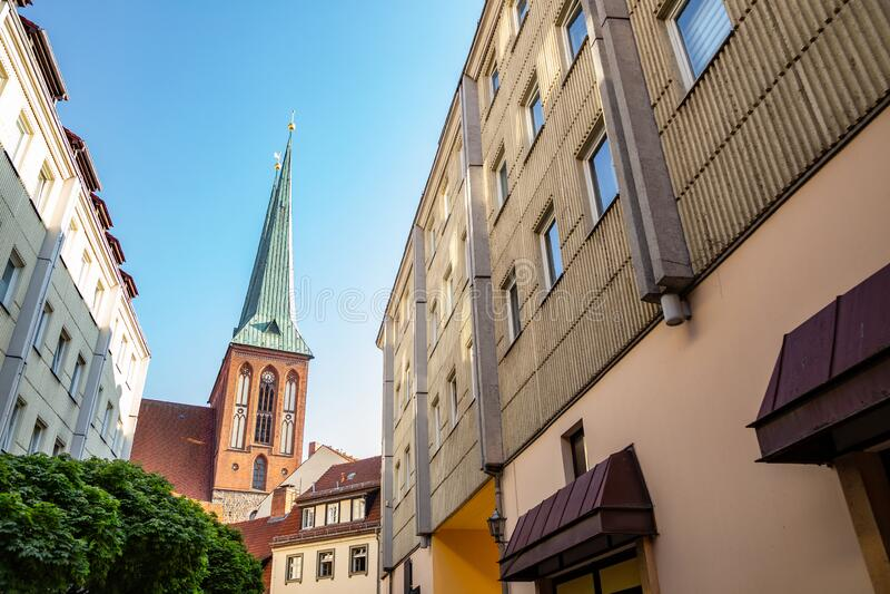 St. Nicholas` Church Nikolaikirche in Berlin, Germany. Europe stock image