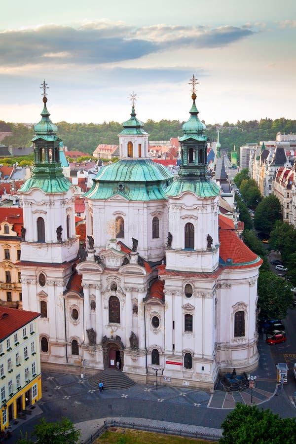 St. Nicholas Church in Praag royalty-vrije stock foto's
