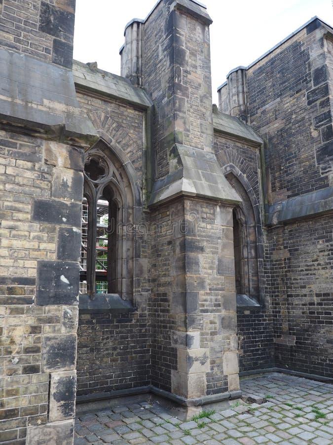 St Nicholas church ruins in Hamburg. Ruins of Nikolaikirche (Church of St Nicholas) in Hamburg, Germany stock images