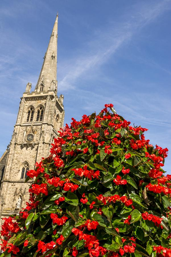St Nicholas Church - ` s de NIC de St - Durham Royaume-Uni photographie stock libre de droits