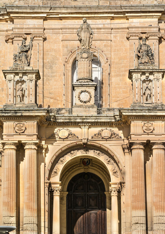 St.Nicholas church, Siggiewi, Malta stock photos