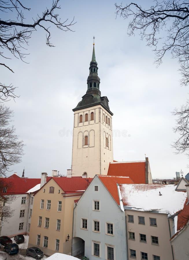 St. Nicholas Church. Tallinn arkivfoton