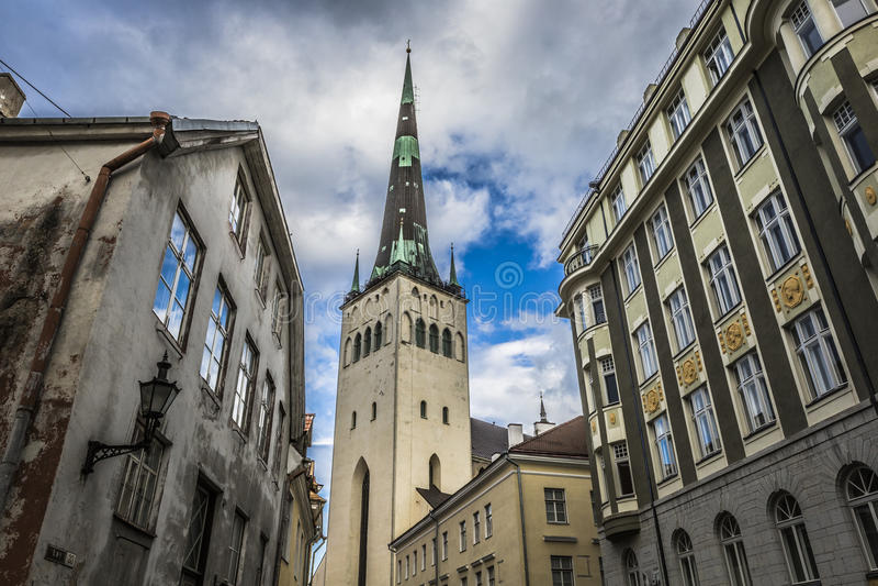 St Nicholas Church a Tallinn, Estonia fotografie stock libere da diritti