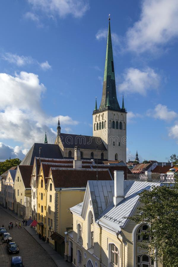 St. Nicholas Church - Tallinn - Estonia stock photo