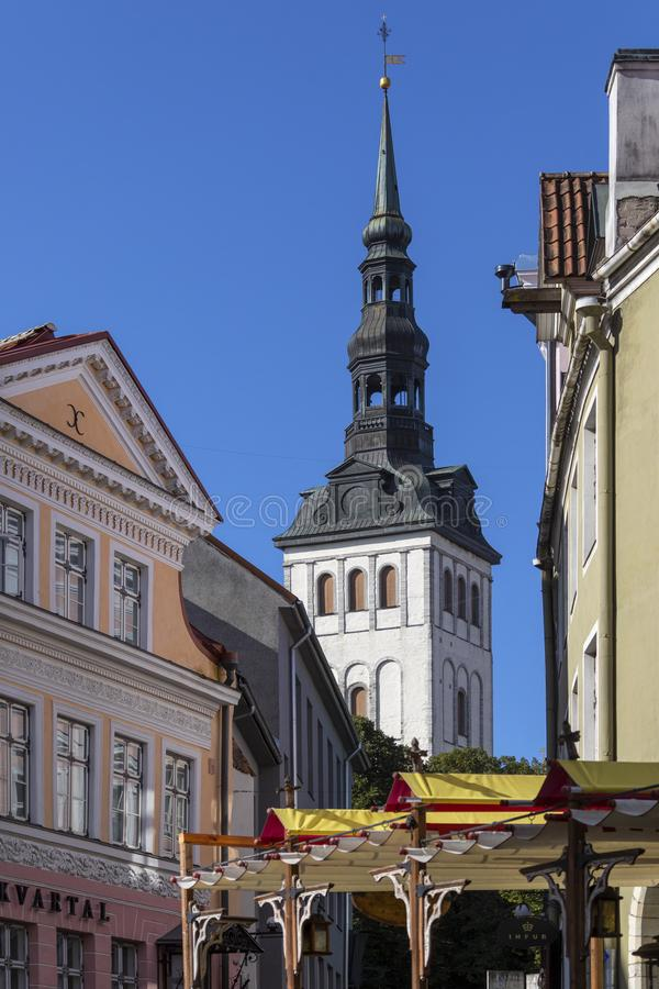 St. Nicholas Church - Tallinn - Estonia stock image