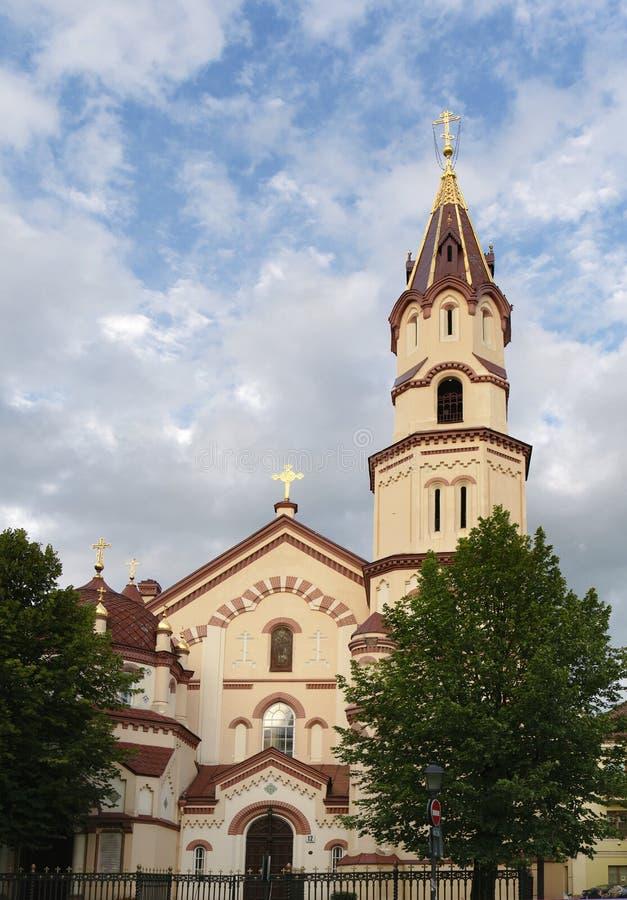 St Nicholas Church in Vilnius stock afbeelding