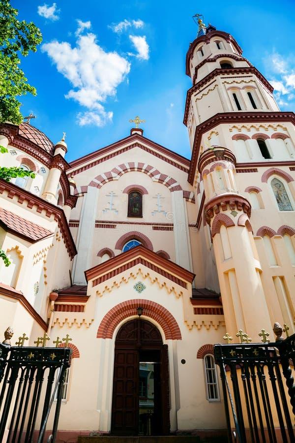 St Nicholas Church in Vilnius stock foto