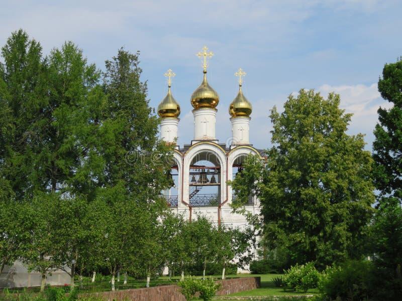 St Nicholas Convent A cidade de Pereyaslavl-Zalessky fotografia de stock
