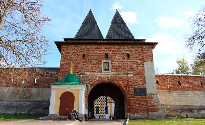St Nicholas Gate Tower met een kapel royalty-vrije stock foto