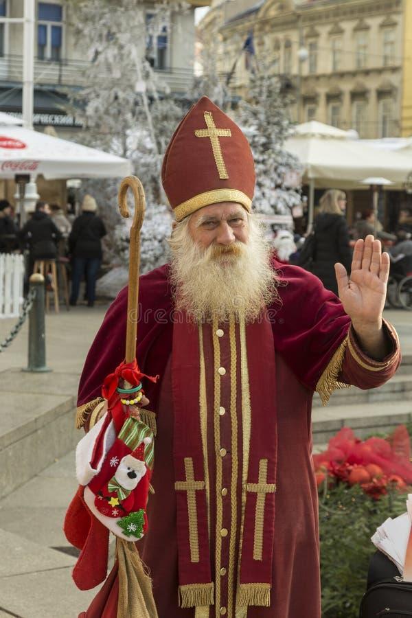 St Nicholas i Zagreb, huvudstad av Kroatien arkivfoto