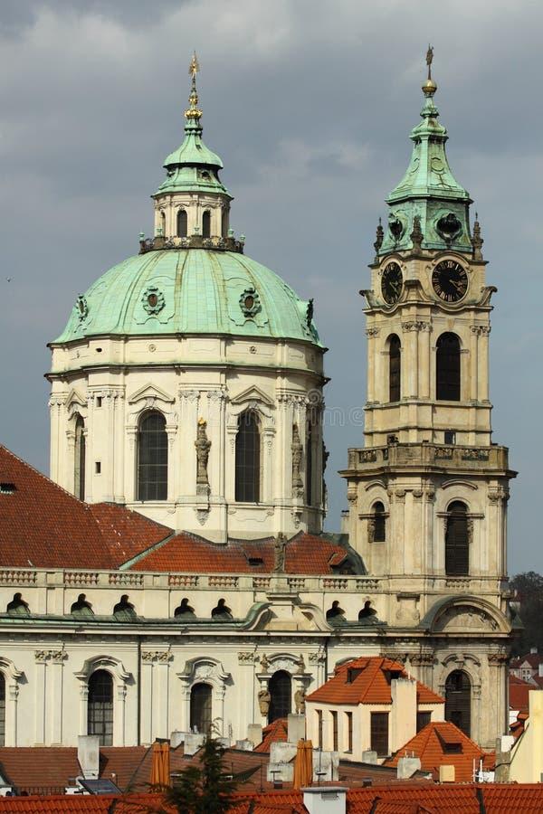 St. Nicholas kerk in Praag stock fotografie