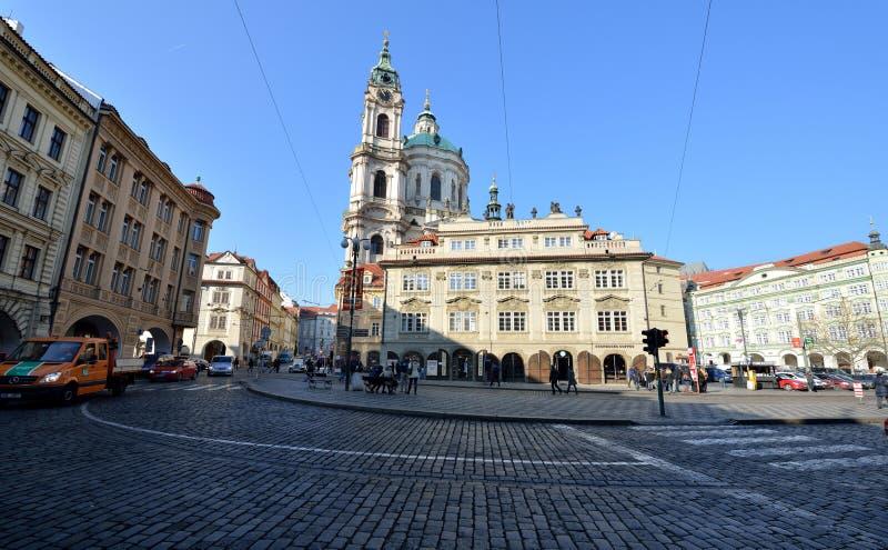 St Nicholas kerk, Praag stock foto
