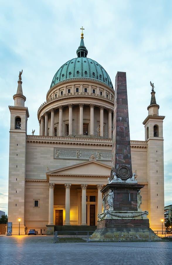 St. Nicholas kościół, Potsdam, Niemcy zdjęcie royalty free
