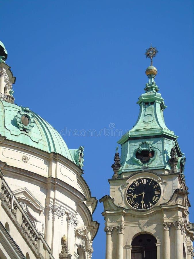 St Nicholas kościół Praga obrazy stock