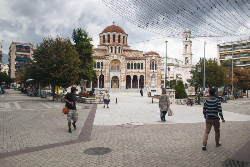 St Nicholas kyrka i Volos, Grekland royaltyfri bild