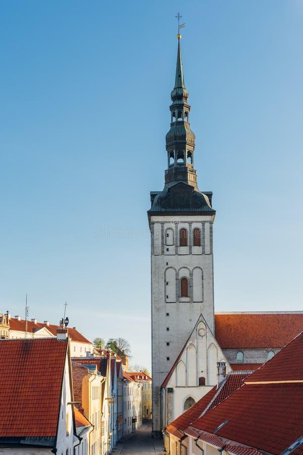 St Nicholas `-kyrka, Tallinn fotografering för bildbyråer