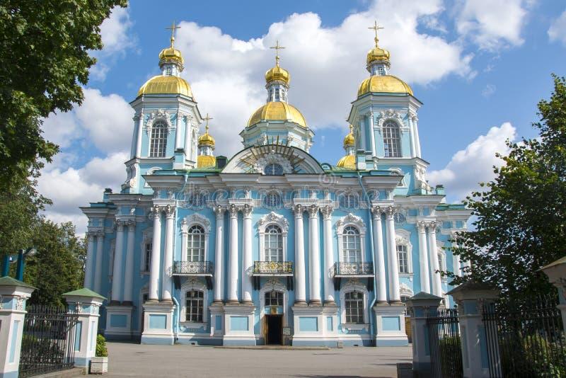 St Nicholas Naval Cathedral Nikolsky Sobor, St Petersbourg, Russie image stock