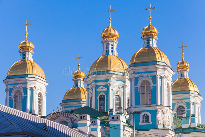 St Nicholas Naval Cathedral, St Petersburg, Russia fotografia stock