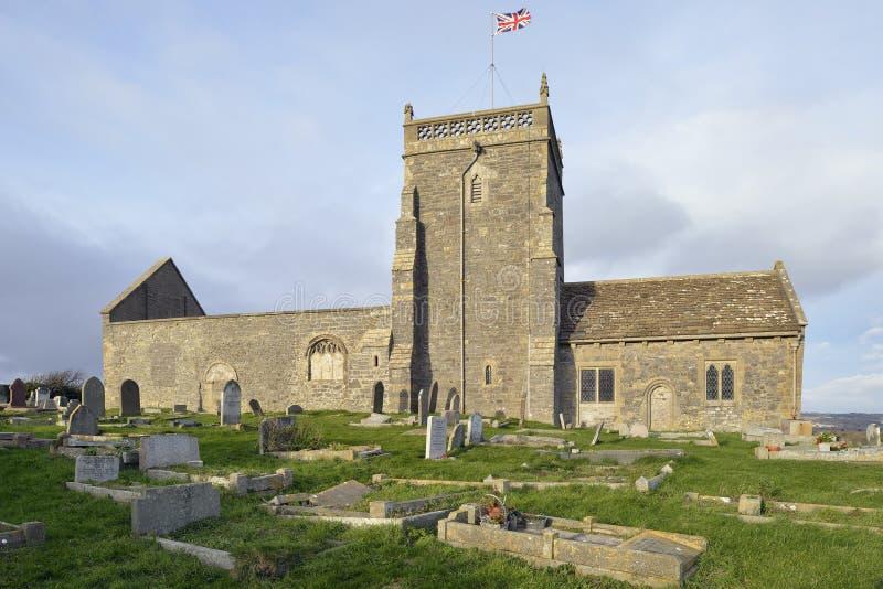 St Nicholas Old Church som är stigande arkivfoton