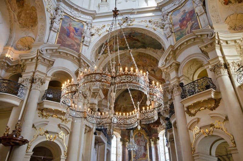 st nicholas prague церков нутряной стоковые фото