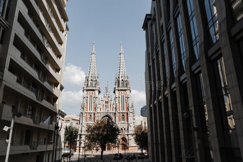 St Nicholas Roman Catholic Cathedral, Kiev royaltyfri fotografi