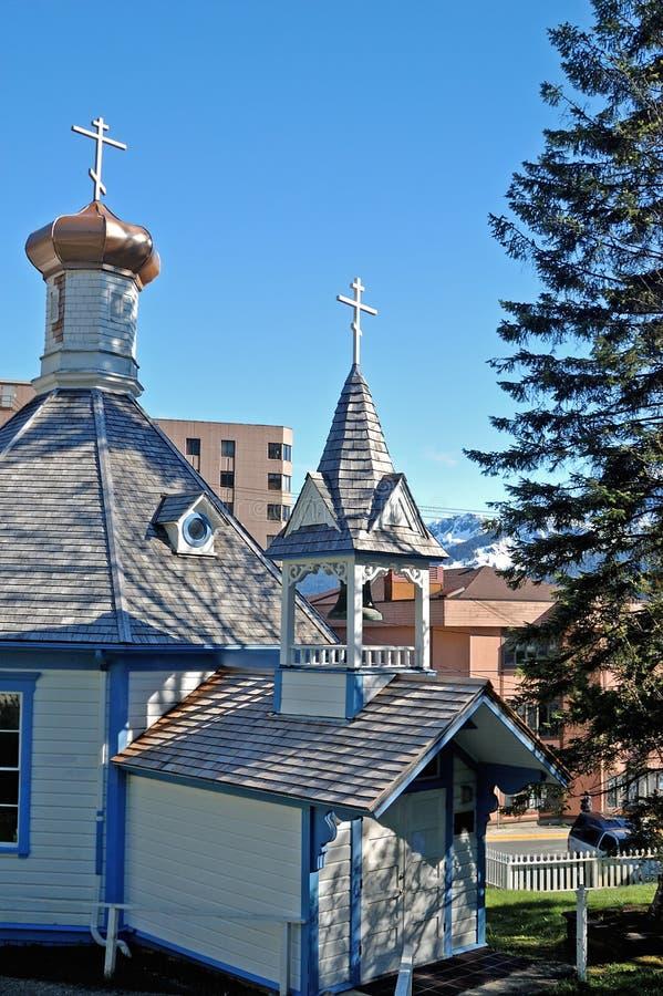 St. Nicholas Russian Orthodox Church stock afbeelding