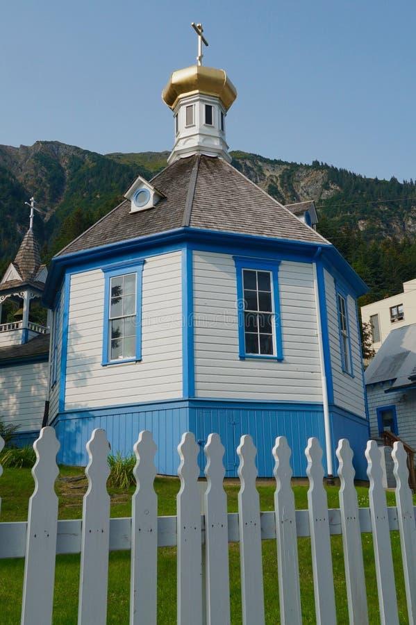 St. Nicholas Russisch-Orthodoxe Kirche in Juneau lizenzfreies stockfoto