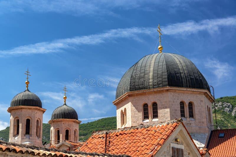 St Nicholas Serbian Orthodox Church dans Kotor photographie stock