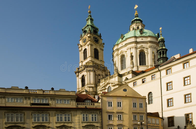 St Nicholas (St. Mikulas) church, Prague royalty free stock photos