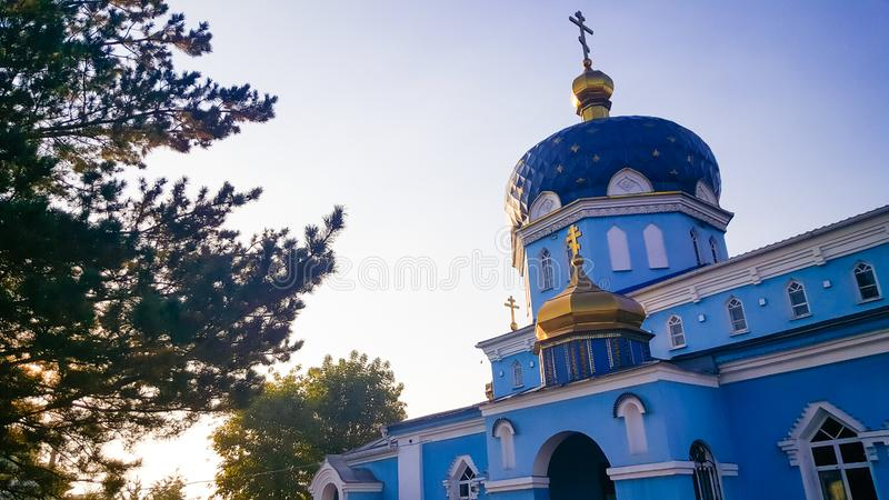 St Nicholas Temple in de ochtend stock foto