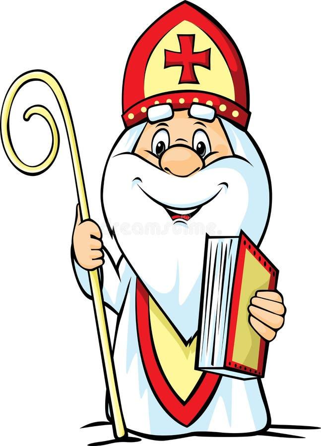 St Nicholas - vektorillustration som isoleras på vit stock illustrationer