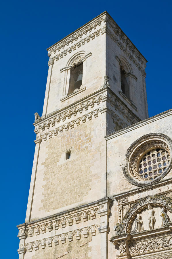 St. Nicola主教堂。Corigliano d'Otranto。普利亚。意大利。 免版税库存图片