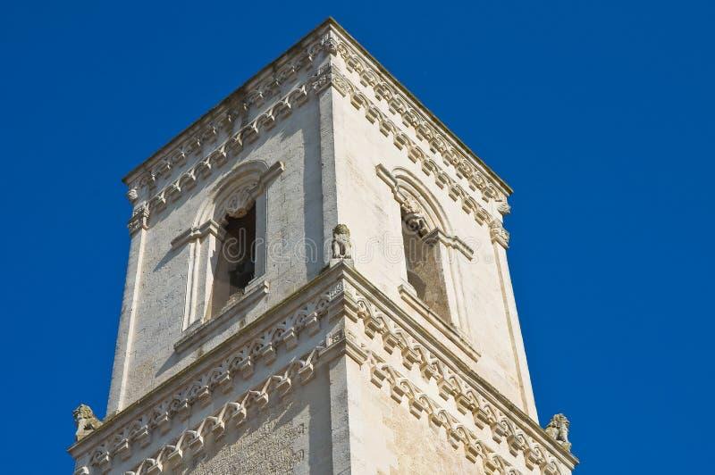St. Nicola主教堂。Corigliano d'Otranto。普利亚。意大利。 免版税库存照片