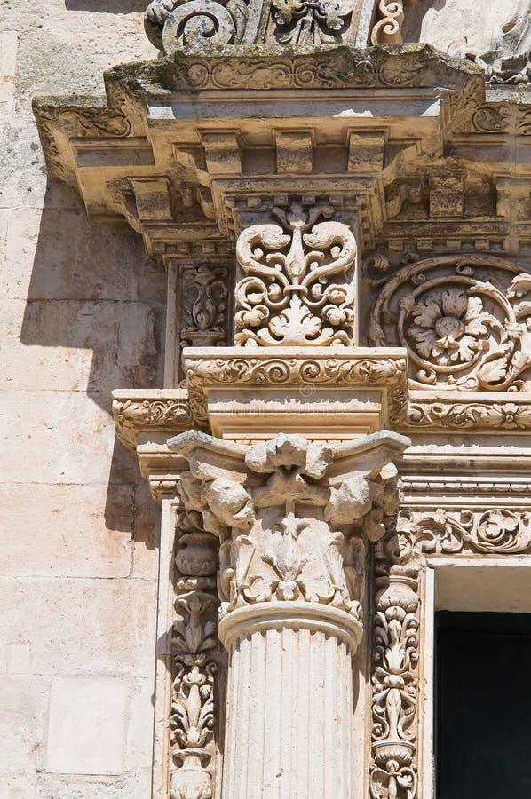 St. Nicola主教堂。Corigliano d'Otranto。普利亚。意大利。 库存照片