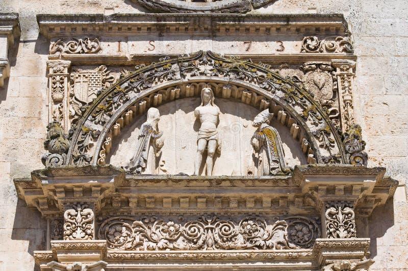 St. Nicola主教堂。Corigliano d'Otranto。普利亚。意大利。 库存图片