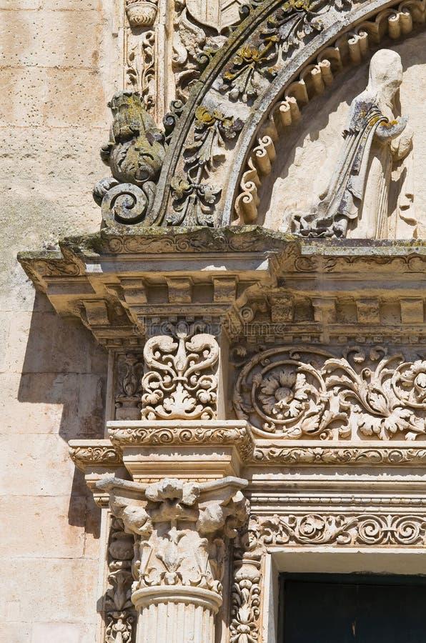St. Nicola主教堂。Corigliano d'Otranto。普利亚。意大利。 图库摄影