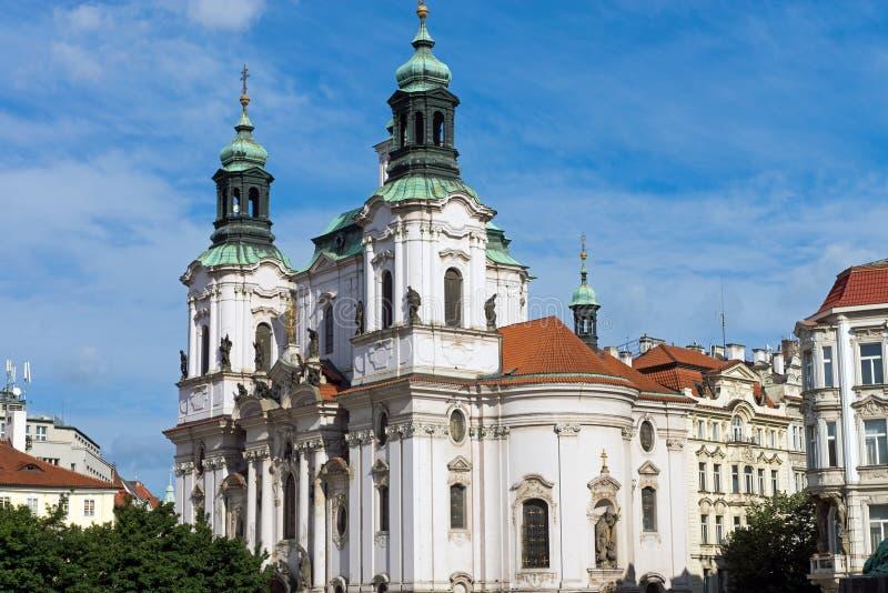 St. Nicolas церков в Праге стоковое изображение