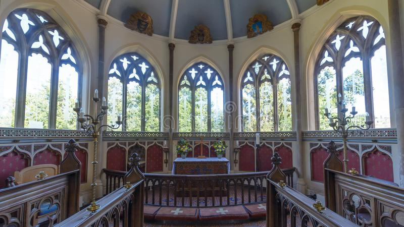 St Nicolas Church Altar och absid fotografering för bildbyråer