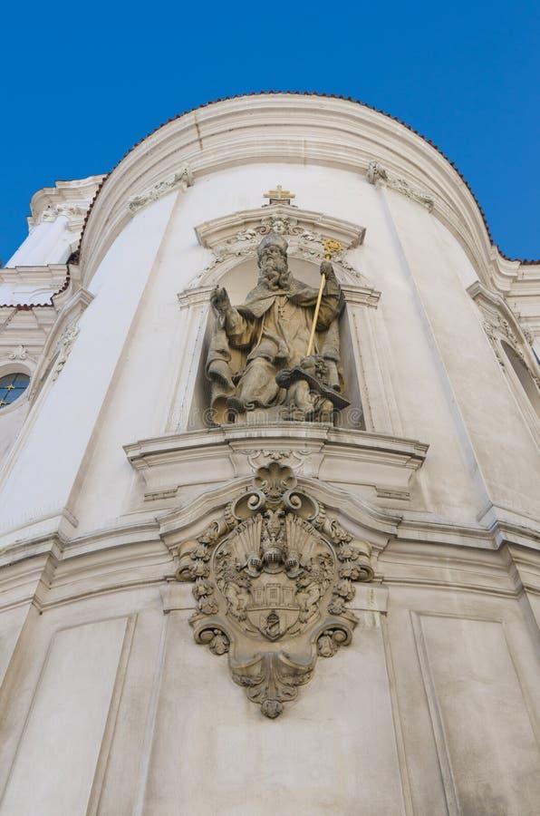St. Nicolas Church detail, Oude Stad, Praag royalty-vrije stock foto's