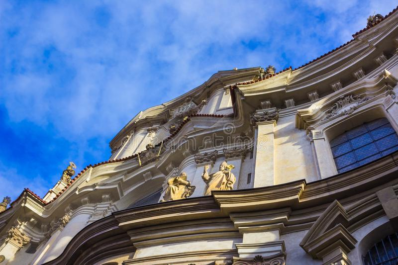 St. Nicolas Church in Mala Strana district of Prague royalty free stock images