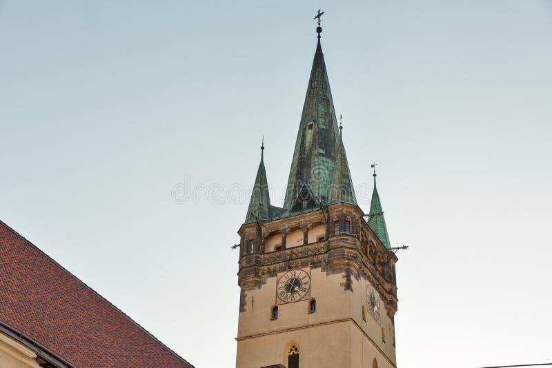St. Nicolas church, the oldest church in Presov, Slovakia. stock photography