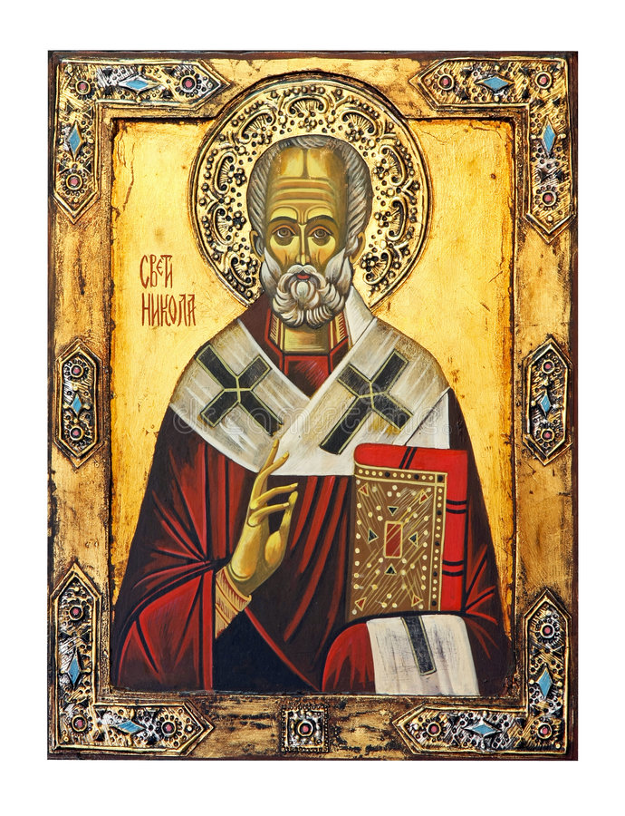 St. Nicolas icon. Saint Nicolas icon isolated included clipping path royalty free stock images