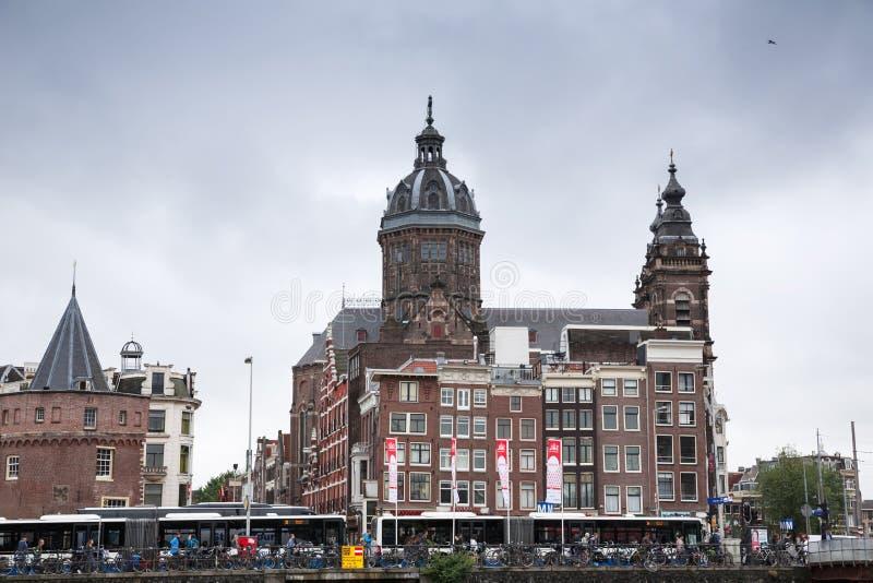 St Nicolas kościół w Amsterdam obraz stock