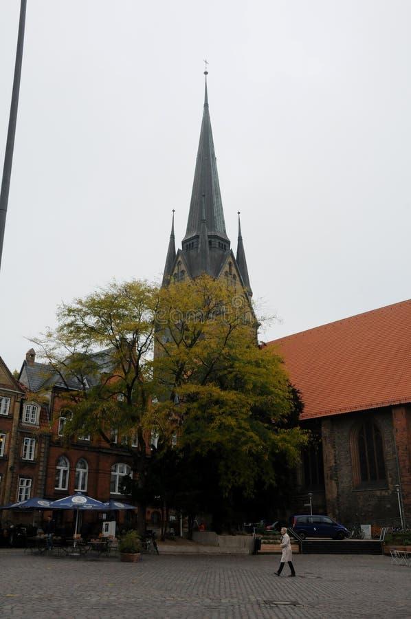 ST.NIKALAI CHURCH IN FLENSBURG GERMANY. Flensburg/Schleswig-Holstein/Germany. 05. October 2018.. ST.Nikolai church in Schleswig -Holstein in Flensburg Germany stock photos