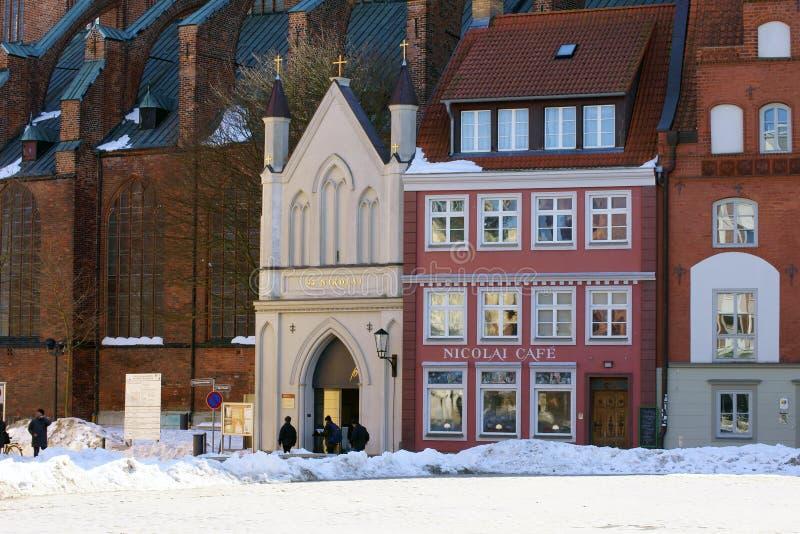 St Nikolai Church Stralsund imagens de stock