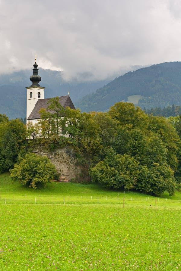St Nikolaus Church, Golling, Oostenrijk royalty-vrije stock foto's