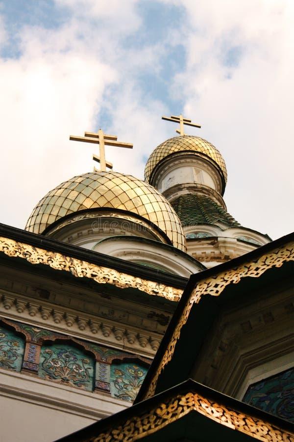 St. Nikolay tempel in Sofia royalty-vrije stock afbeeldingen